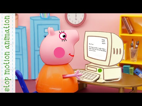 Mummy Pig At Work Peppa Pig Toys Stop Motion Animation New English Episodes