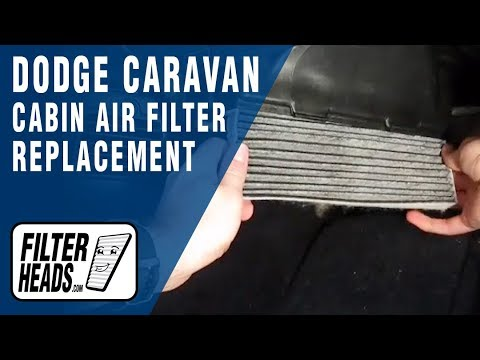 Cabin air filter replacement dodge caravan video for 2006 dodge grand caravan cabin filter location