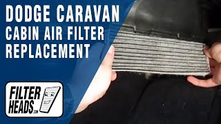 How to Replace Cabin Air Filter Dodge Caravan