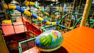 Surprise Egg Hunt at Busfabriken Indoor Playground (Easter egg hunt / toy hunt)