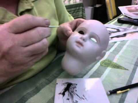 Painting Eyelashes on a Tete Jumeau Antique Reproduction Doll with Connie Zink