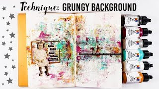 Grungy Background Technique - Mixed Media Art Journal
