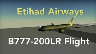 Roblox: Etihad Airways Flight - Boeing 777-200LR - The Residence!