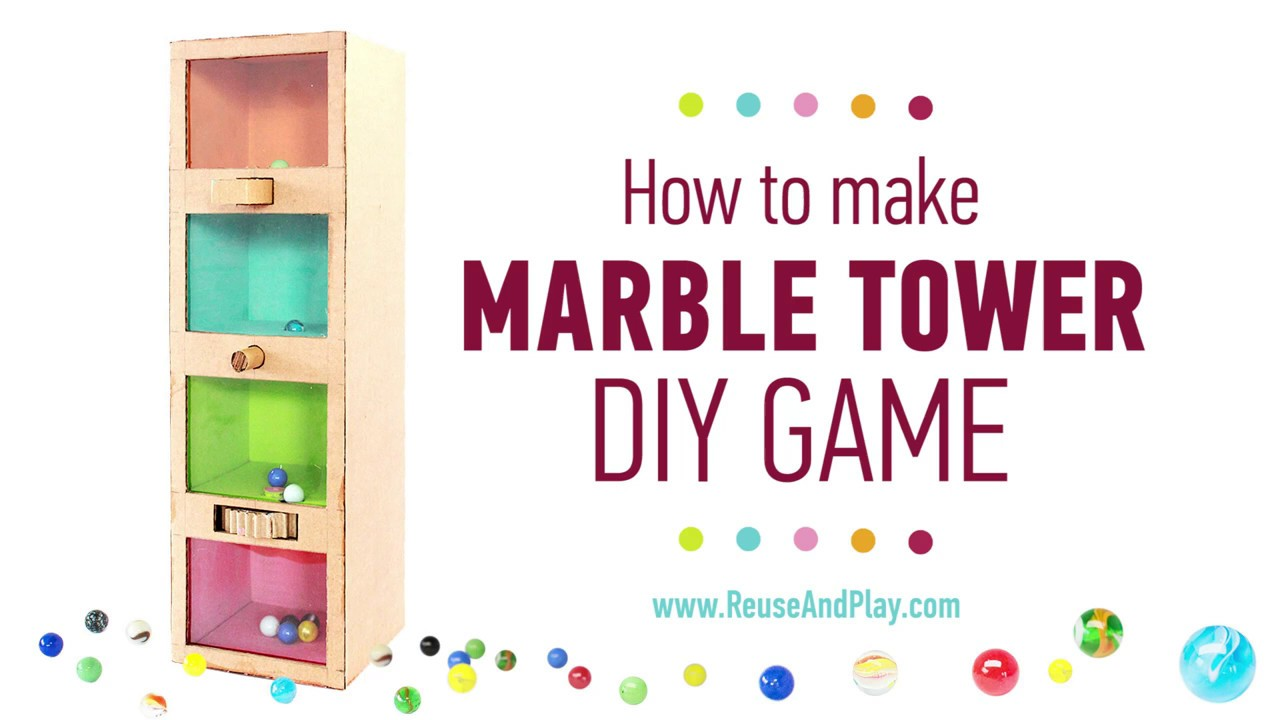 Marble Ball Challenge Game out of Cardboard DIY