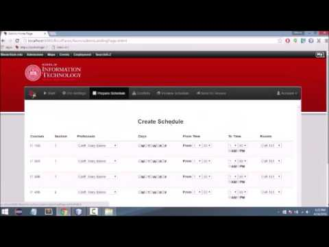 Group Project: Scheduling Application Java Web Development