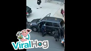 Woman Drags Thief from the Drivers Seat of Her Own Car || ViralHog