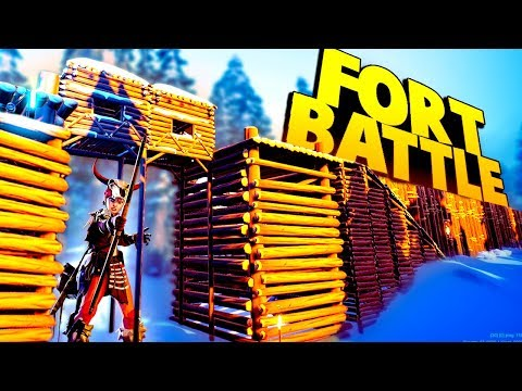 EPIC FORT Fight for Survival!  NEW GAME (The Darwin Project Multiplayer Gameplay Part 1)