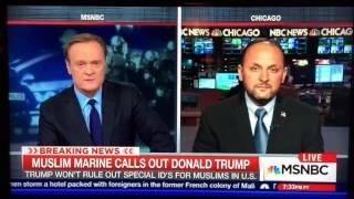 Muslim Marine, Sergeant Tayyib M Rashid on MSNBC.