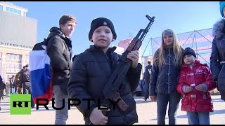 Ukraine: French Donbass fighters take part in Defender of the Fatherland Day