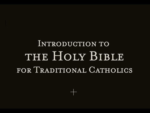 Oral Tradition - Introduction to the Holy Bible Pt. 1