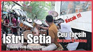 Aksi Kocak Ceu Tarsih Ikut Joged | RUSDY OYAG PERCUSSION | ISTRI SETIA