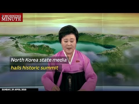 North Korea state media hails historic summit
