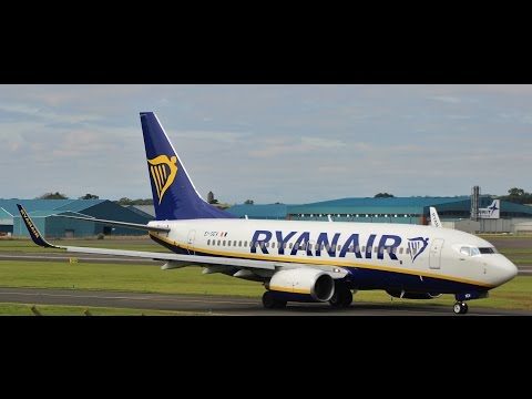 Ryanair Boeing 737-700 Circuit Training at Prestwick Airport