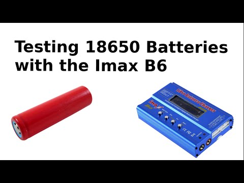 Testing 18650 Li-ion Batteries from Old Laptops with my Imax B6 charger