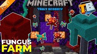 OP FUNGUS FARM | Truly Bedrock Season 2 [20] | Minecraft Bedrock Edition 1.16 SMP