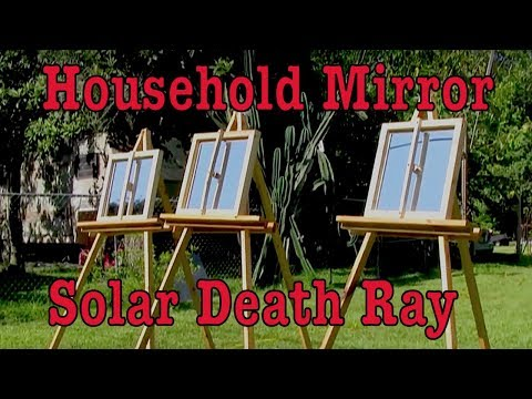 Household mirror hack to Archimedes Death Ray solar mirror h