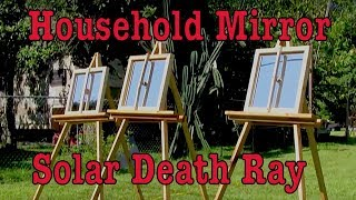 Archimedes Death Ray solar mirror heat power