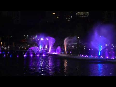Kuala Lumpur fountain music light show