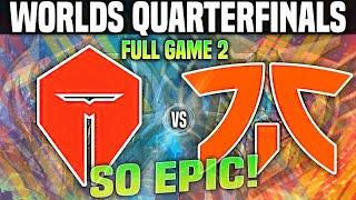 TES vs FNC Game 2 *BRUTAL!* Worlds QUARTERFINALS 2020 - TOP ESPORTS vs FNATIC G2 Worlds QUARTERFINAL