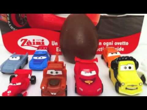 Surprise Eggs Cars 2 Unboxing Disney Pixar toy gift - Kinder sorpresa huevo juguete regalo Cars Travel Video