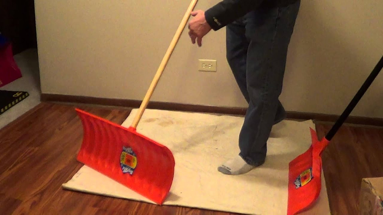 how to keep snow from sticking to shovel