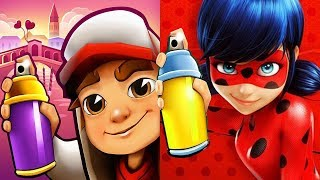 Subway Surfers JAKE vs Miraculous LADYBUG Cat Noir Official Game Gameplay HD