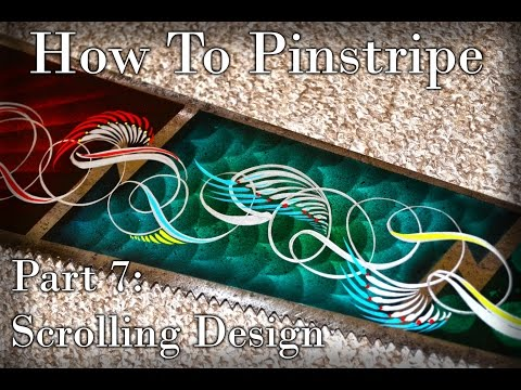 Cambridge Pinstriping, Tutorial - Part 7, Scrolls - Scrolling Design, How to pinstripe.