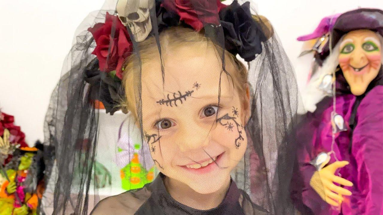 Nastya is going for Halloween treats