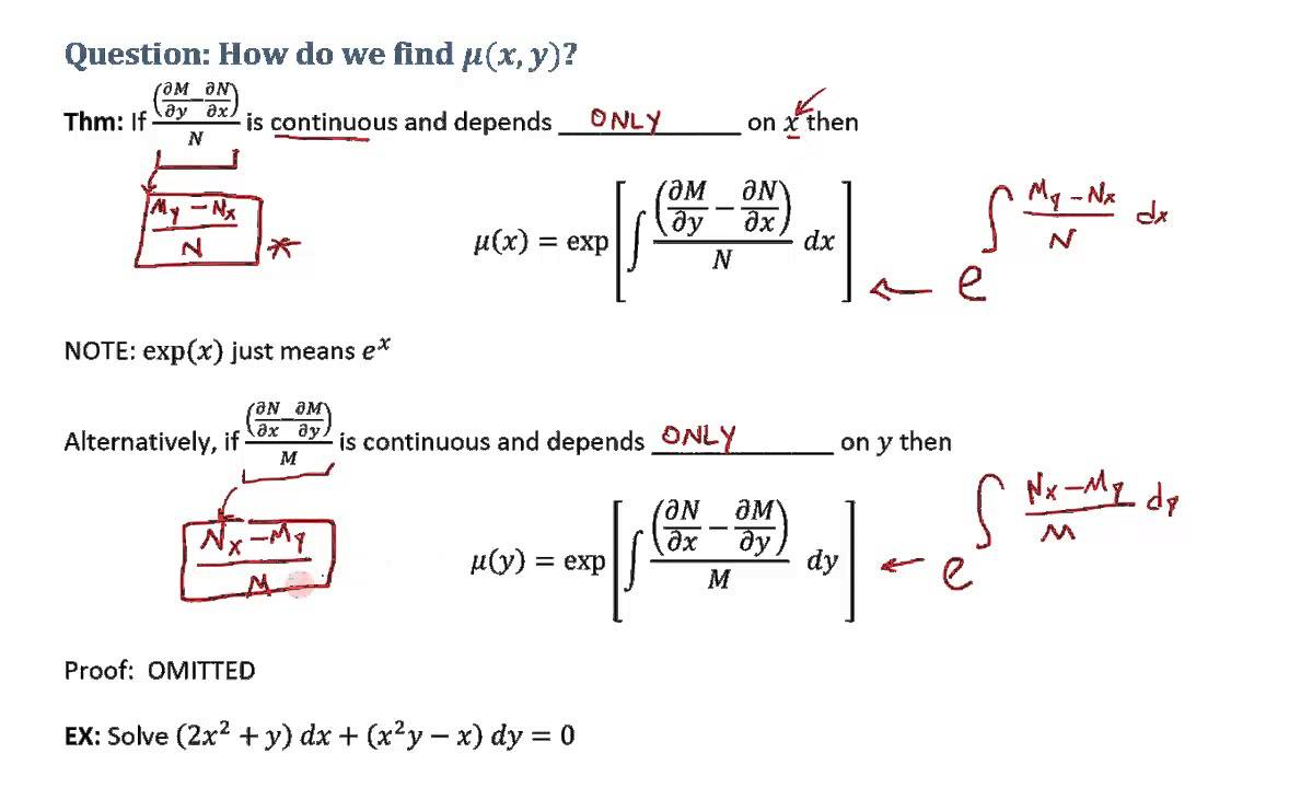 Exact differential equation example #1 youtube.