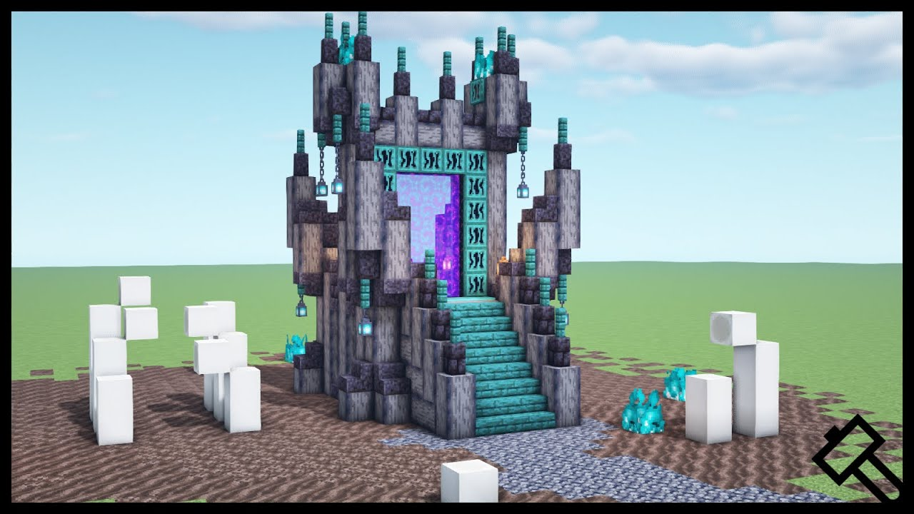 Minecraft Awesome Nether Portal Design For 1 16 1 How To Build Youtube