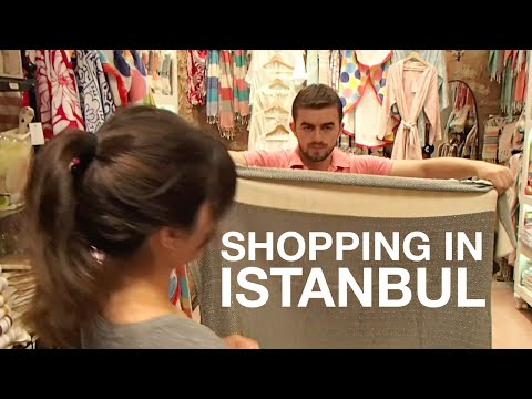 Shopping in Istanbul, Turkey