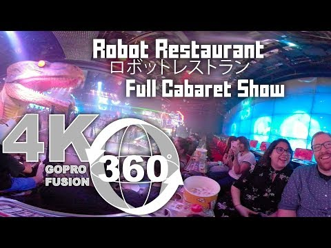 360 Video of Robot Restaurant in Shinjuku, Tokyo | Full Cabaret Show | Robot Bar | Japan in 360
