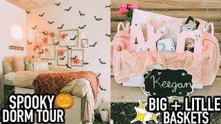College Week In My Life | Big/Little Baskets, Spooky Dorm Tour, Birthday Shopping, + more!