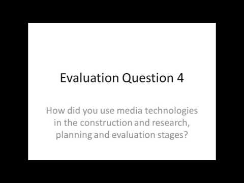 Evaluation Question 4 (Molly Dicks)