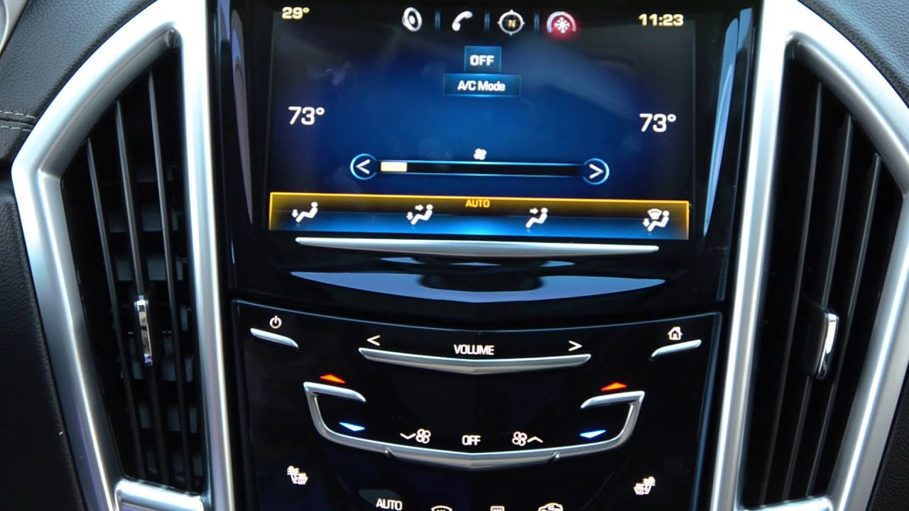 How To: Set Climate Control Cadillac CUE - YouTube