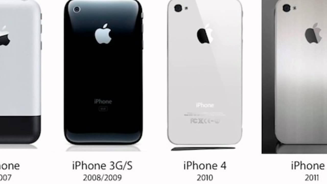 IPhone 2g Vs 3G 3GS 4g 4gs 5g Comparaison