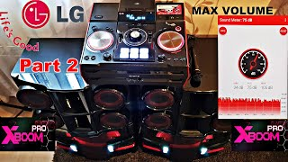 LG XBOOM PRO CM9940 - MAX VOLUME + DECIBELS Test