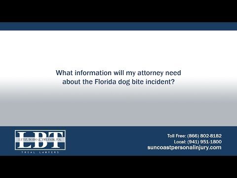 What information will my attorney need about the Florida dog bite incident?