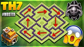 """""""UNSTOPPABLE"""" BRAND NEW 2018 TOWN HALL 7 (TH7) TROPHY/DEFENCE BASE DESIGN - Clash Of Clans"""