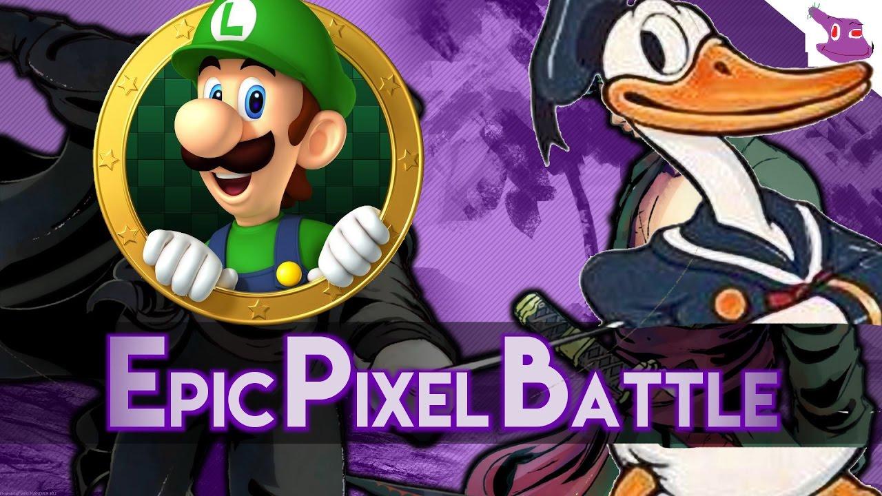 Luigi Vs Donald Duck Epic Pixel Battle Epb Saison 3