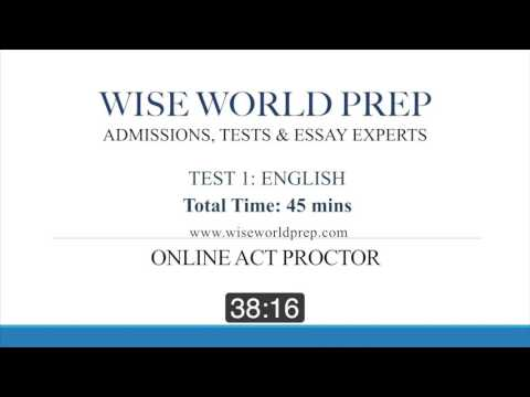 Wise World Prep - Online ACT Exam Proctor