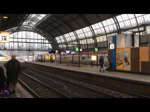 Trains at Amsterdam Centraal Station (Trip to Europe)
