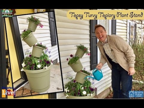 How to make a Topsy Turvey Topiary Plant Stand