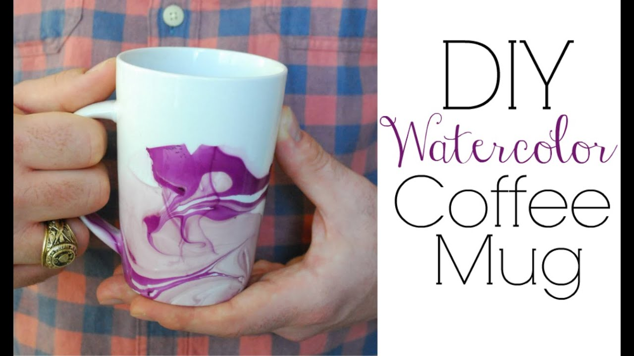 Watercolor Coffee Mugs   Easy DIY Gifts   YouTube