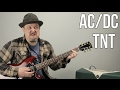 AC/DC - TNT - How to Play TNT by ACDC Angus Young - Easy Power Chords video & mp3