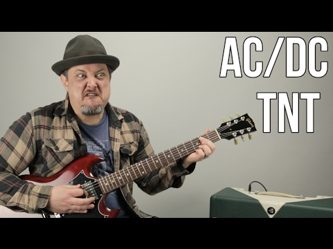 ACDC  TNT  How to Play TNT  ACDC Angus Young  Easy Power Chords