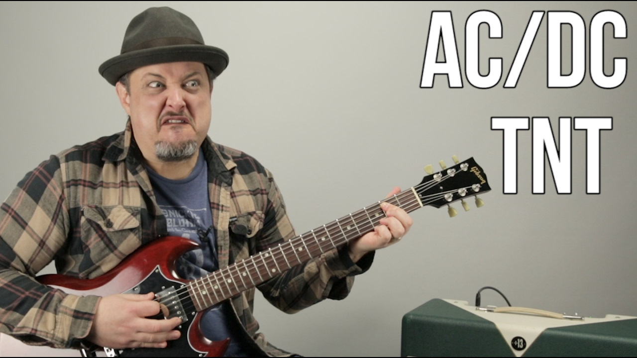 Acdc Tnt How To Play Tnt By Acdc Angus Young Easy Power