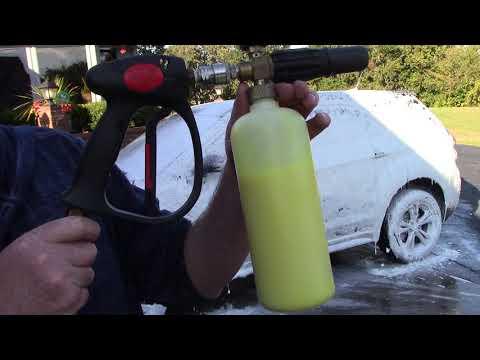 Amazing Trick With Foam Cannon - Let It Foam Baby!!