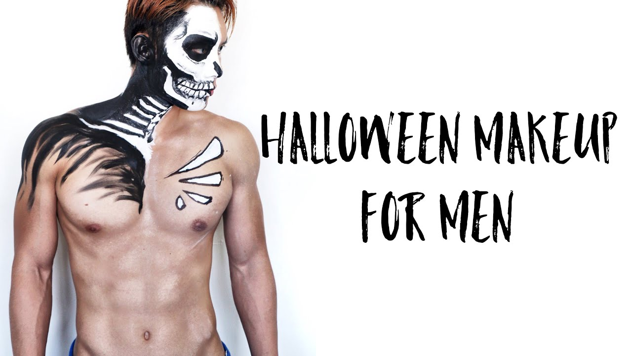 Last Minute Halloween Makeup Tutorial for Men - YouTube
