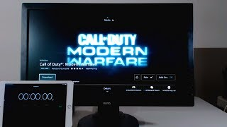 Downloading Call of Duty Modern Warfare at 1000Mbps on PS4